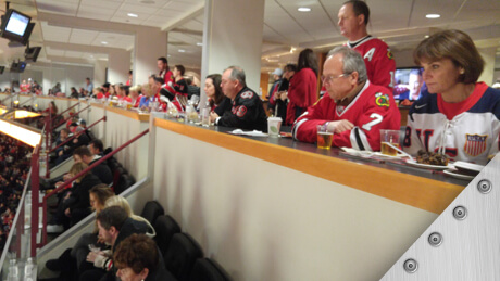 SMACNA members at Chicago Blackhawks game